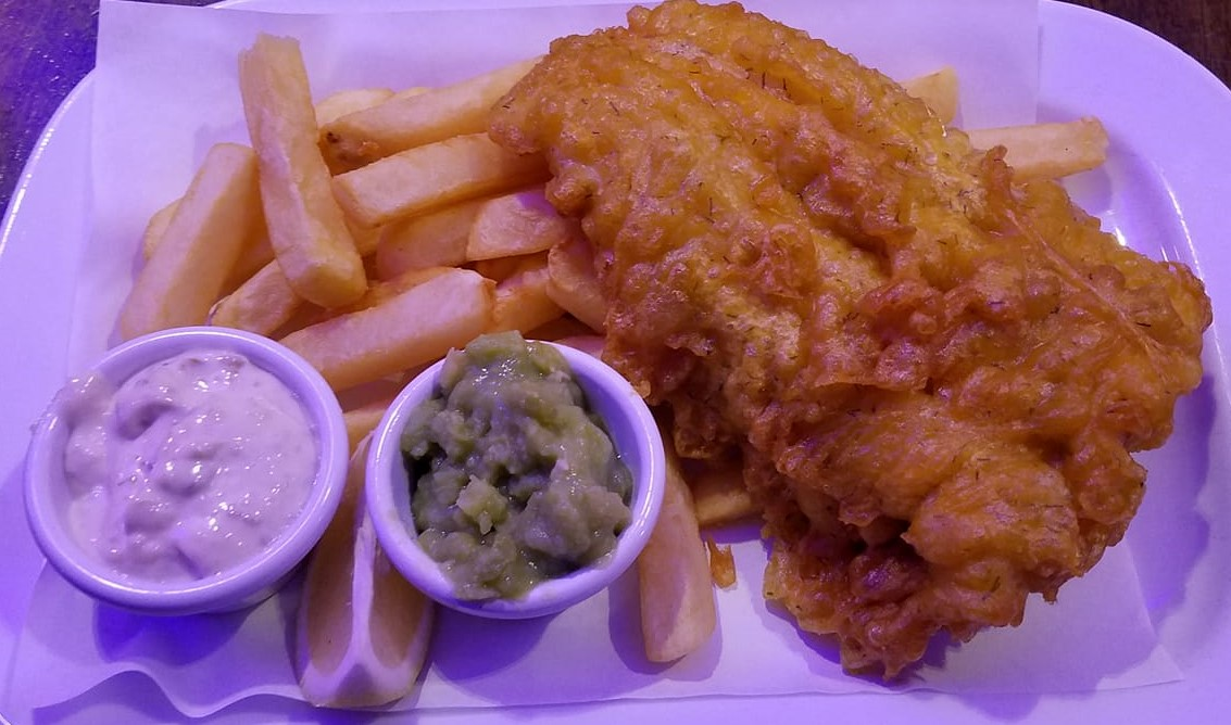 The Fish 'n' Chips at Scotts Bar inside Scotts Hotel Killarney